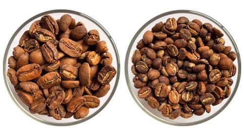 Кофе в зернах - сравнить марагоджип и арабику из Эфиопии
