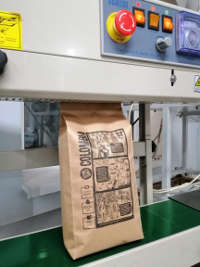 Упаковка свежеобжаренного кофе в пакеты по 100, 250,500, 1000 грамм